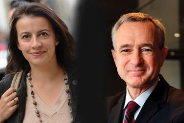 photo : Cécile Duflot, ministre de l'Égalité des Territoires et du Logement, et Jean-François Buet, président de la Fédération nationale des agents immobiliers (FNAIM)