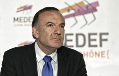photo : Pierre Gattaz, président du Medef