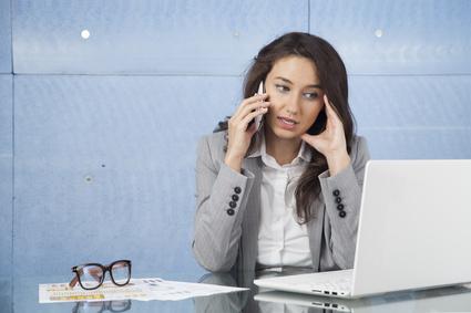 photo : Businesswoman conversation