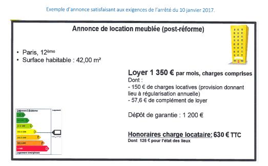 Pr cisions de la dgccrf concernant l application de l for Annonce immobiliere agence