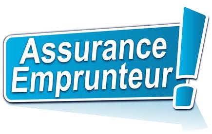 photo : assurance emprunteur sur tiquette bleue