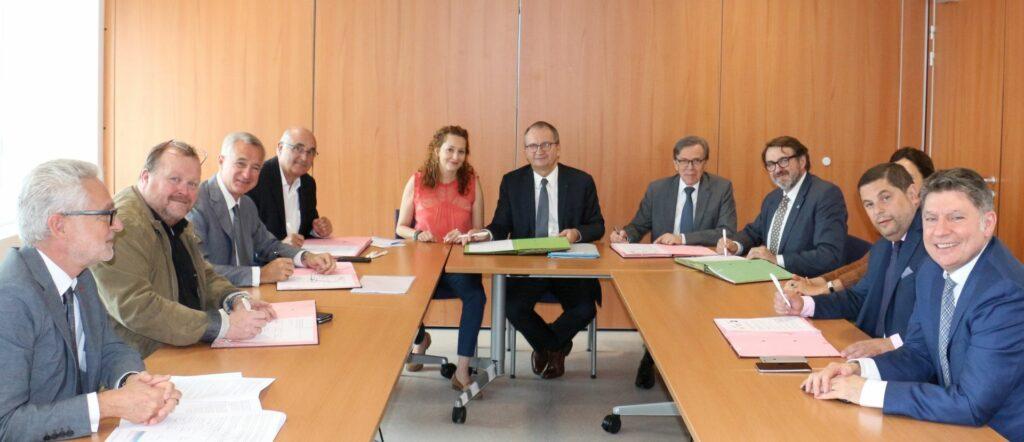 photo : 17 0720_Signature_Partenariat_AL_FNAIM_SNPI_UNIS