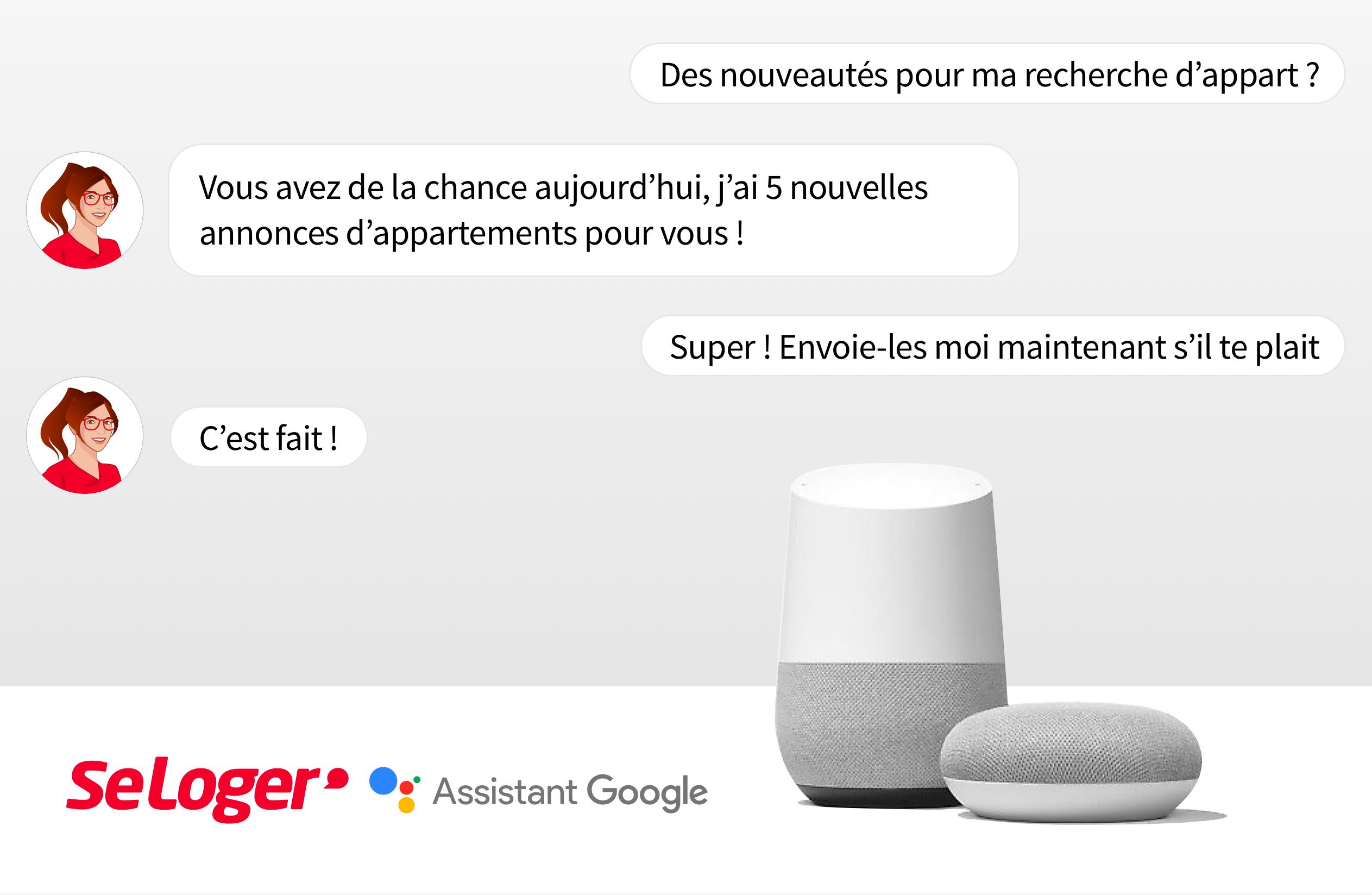 SeLoger : 1er site de recherche immobilière en France  à lancer la recherche immobilière vocale  sur l'Assistant Google !