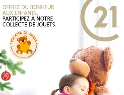 490 581 jouets récoltés par les agences CENTURY 21 du 1er au 30 novembre