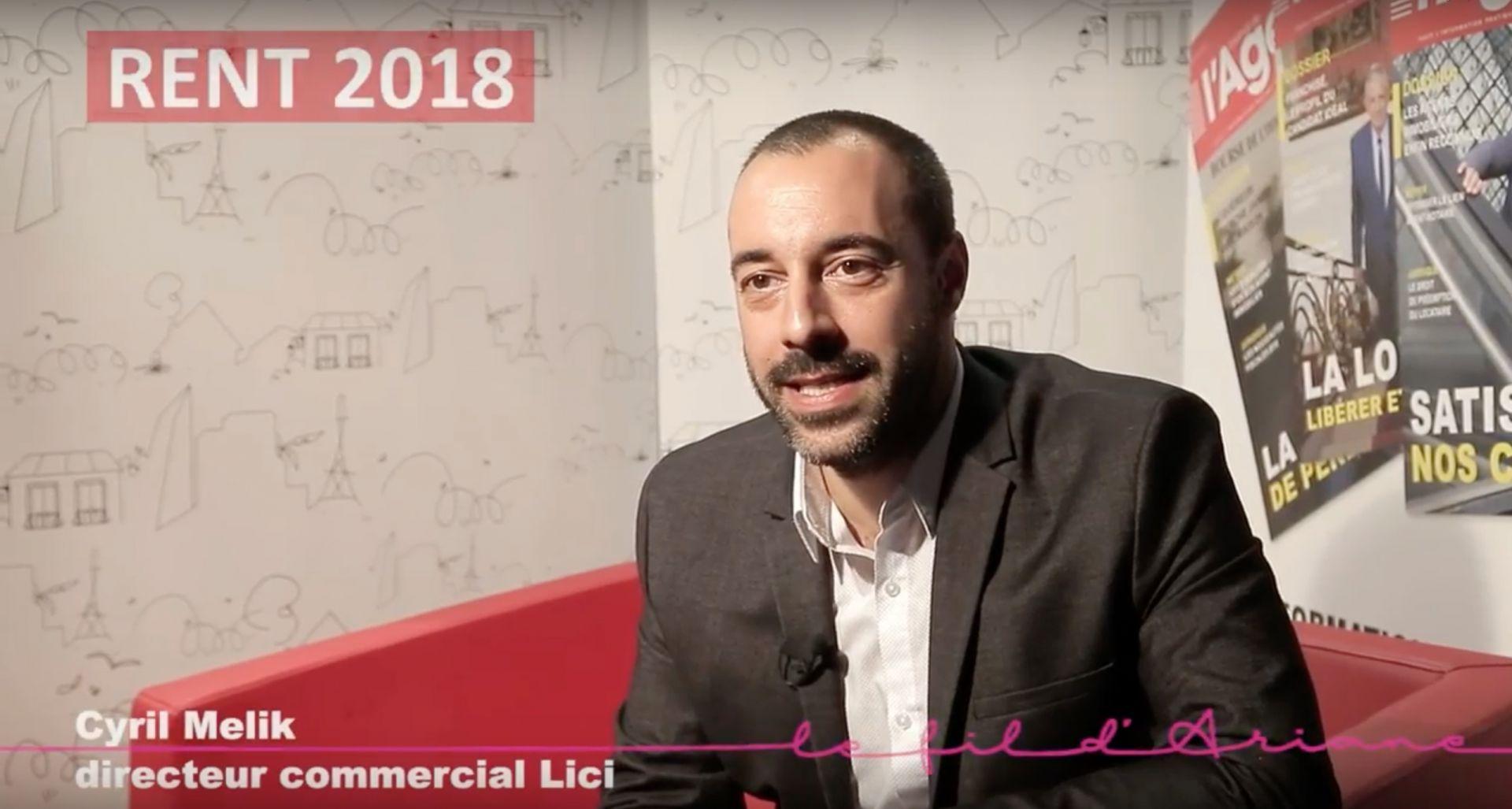 RENT 2018 : Cyril Melik présente l'appli  de partage de mandats Lici !