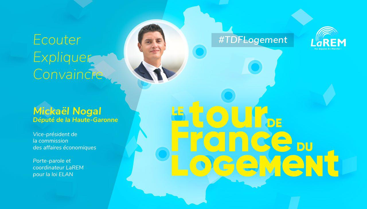 Le député Mickaël Nogal lance un Tour de France du Logement