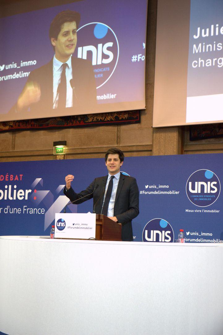 Au Forum de l'UNIS, Julien Denormandie rassure les professionnels !