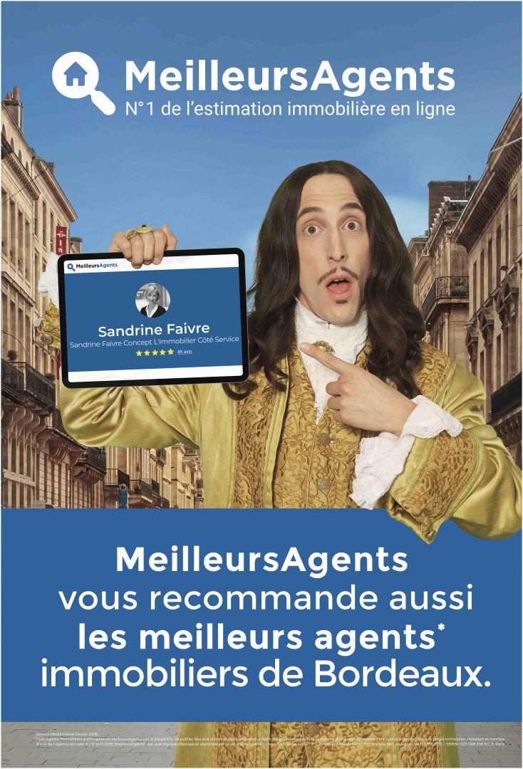 MeilleursAgents affiche le visage des meilleurs agents immobiliers de Bordeaux