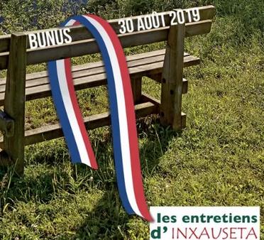 Les Entretiens d'Inxauseta se tiendront le  30 août à Bunus !