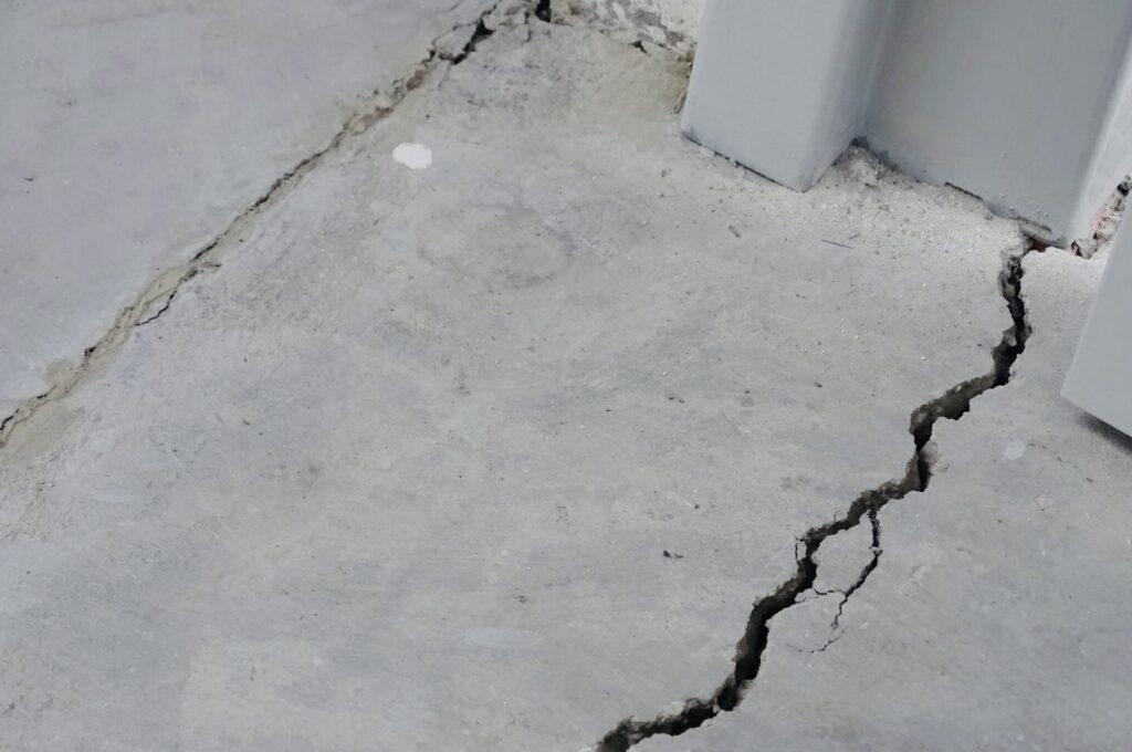 photo : fissure de retrait béton