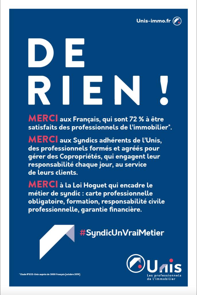 photo : UNIS - Campagne DE RIEN