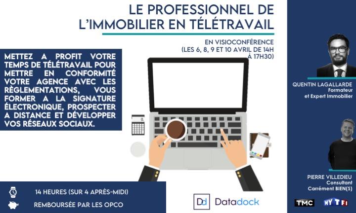 «Le professionnel de l'immobilier en télétravail», Quentin Lagallarde, Expert près la Cour d'Appel de Caen et Enseignant droit immobilier et expertise immobilière