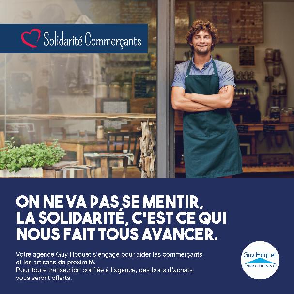 Solidarité commerçants : Guy Hoquet l'Immobilier s'engage pour relancer l'économie locale