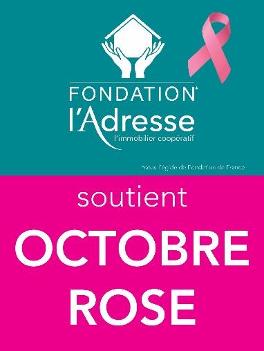 La Fondation l'Adresse soutient l'association Rose Up pour Octobre Rose pour la seconde année consécutive