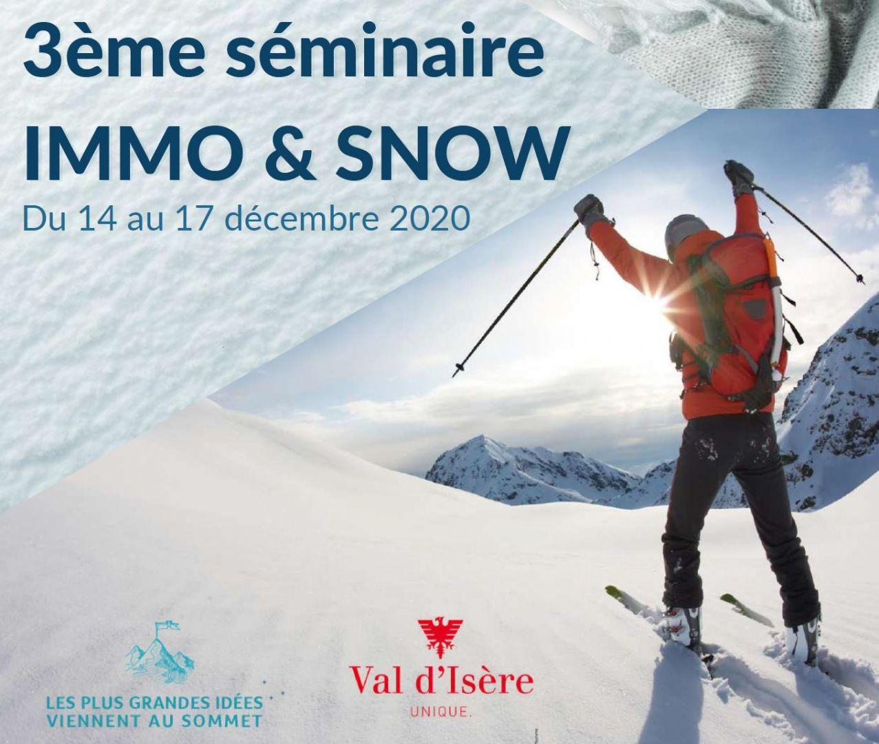 IMMO & SNOW revient en décembre 2020 pour une 3ème édition tout schuss !