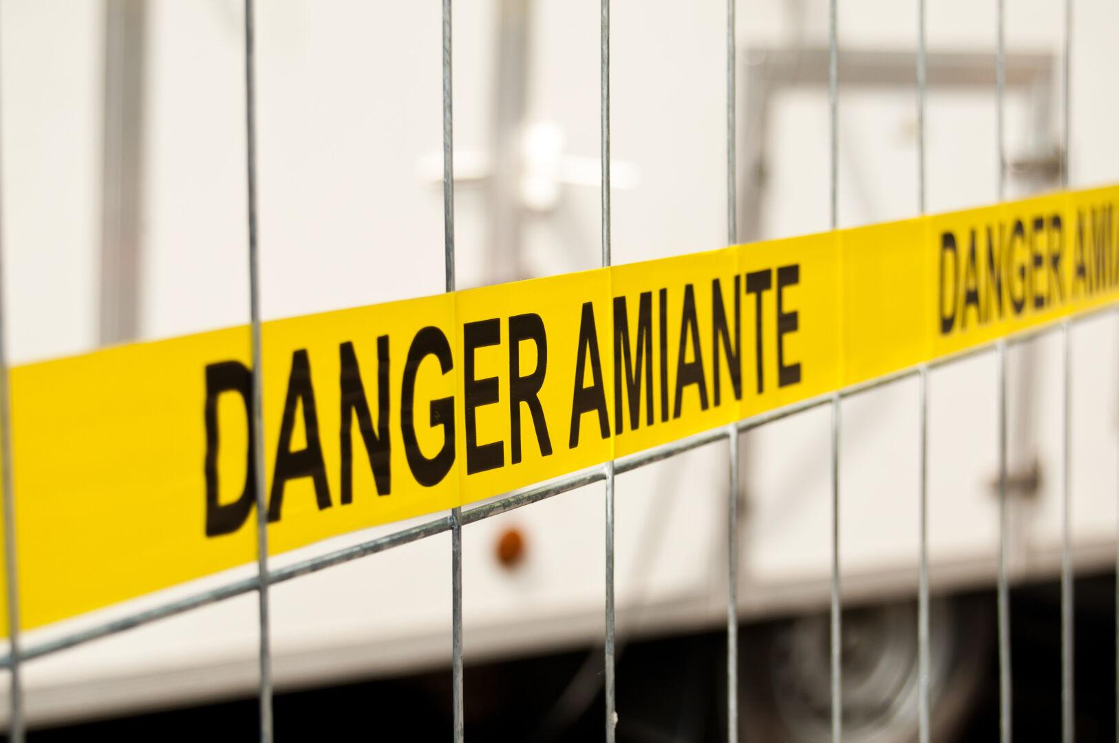 photo : barrière danger amiante