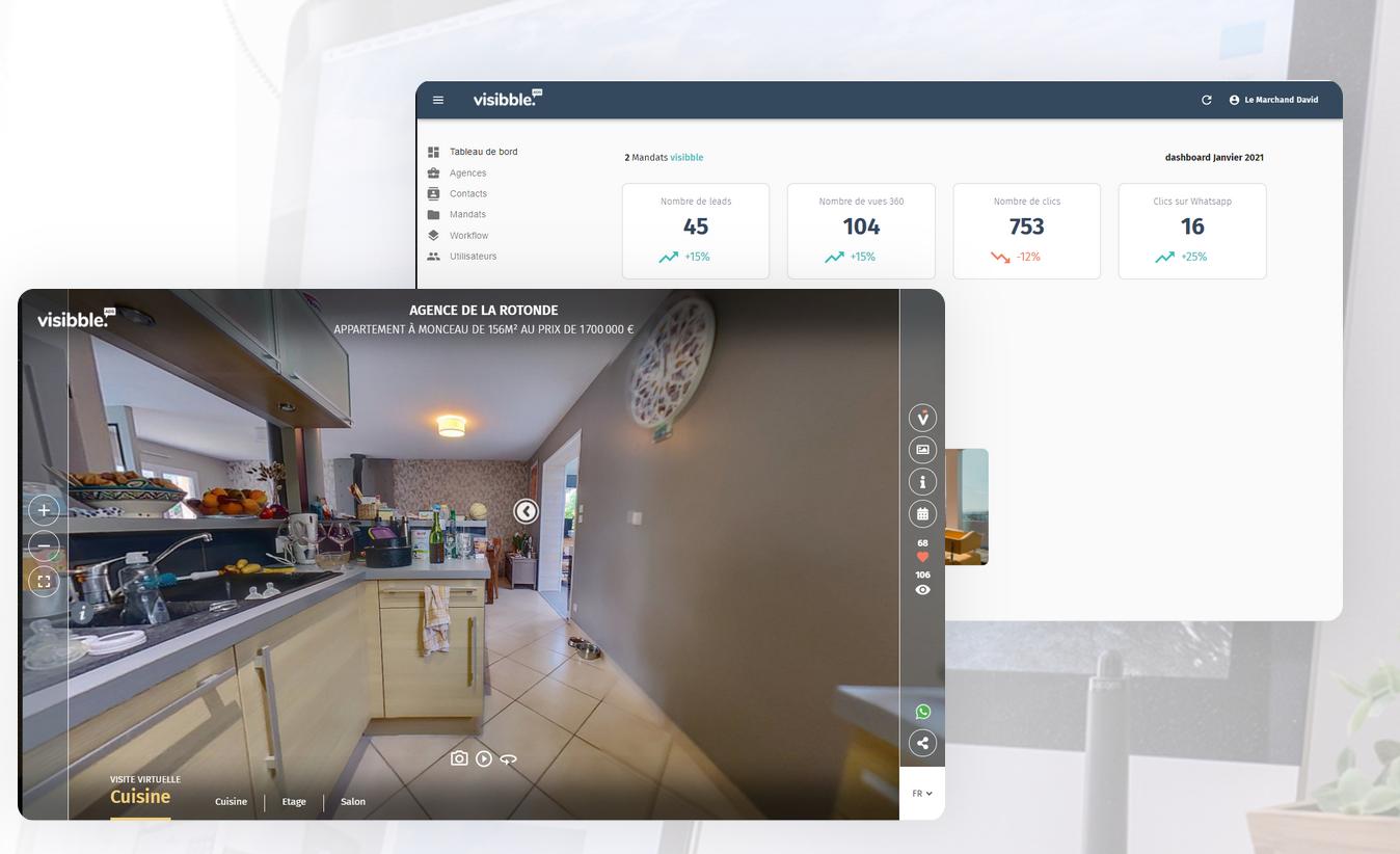 Visibble Ads : le nouvel outil de visites virtuelles de VITRINEMEDIA pour valoriser vos biens