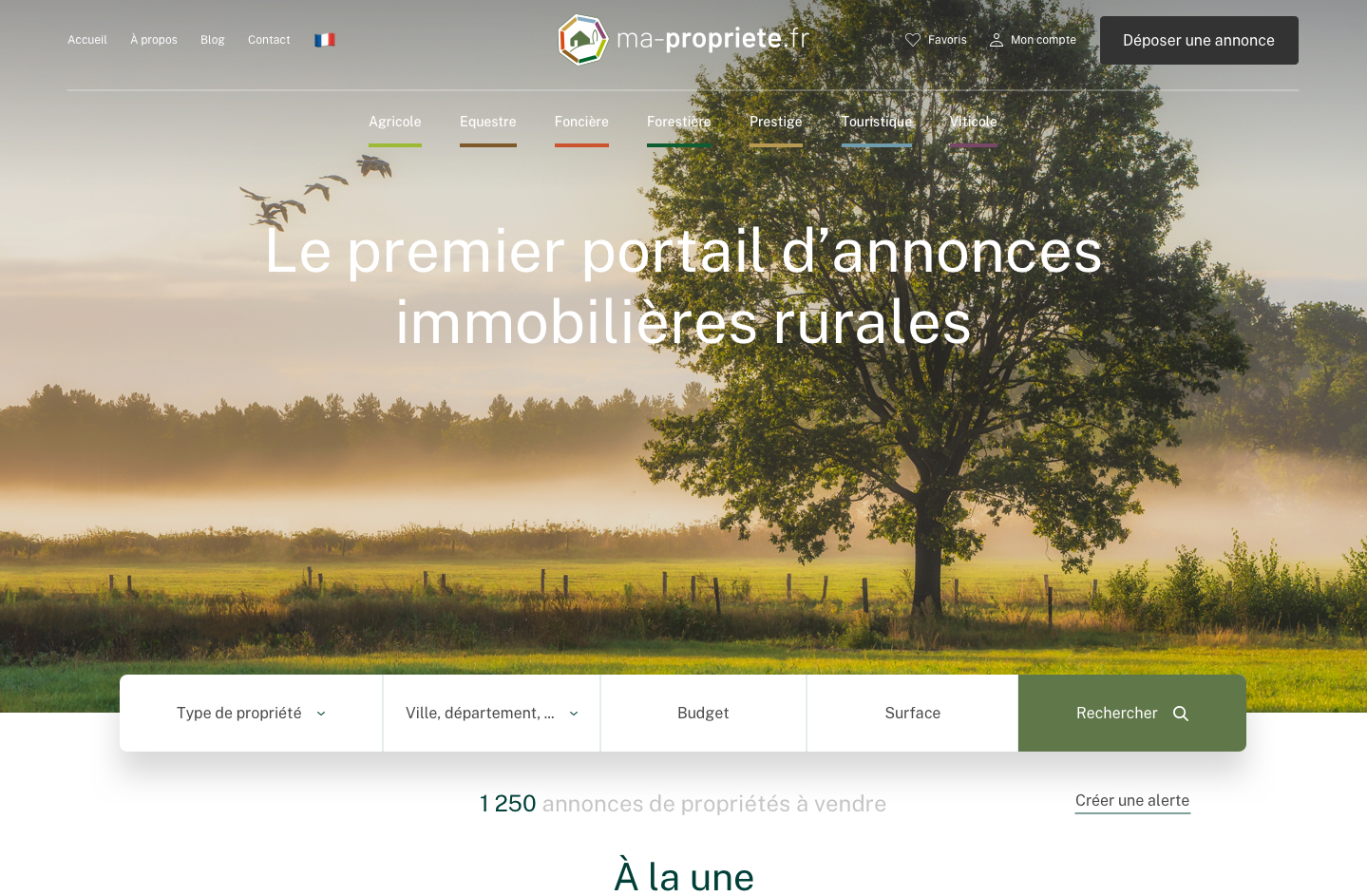 Ma-propriété.fr, premier portail d'annonces immobilières rurales