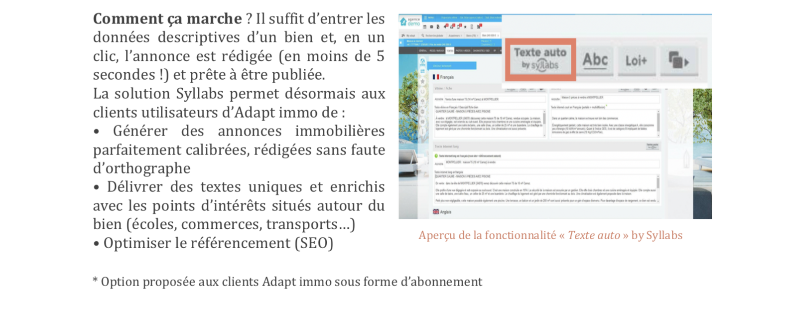 Adapt immo intègre l'IA Syllabs pour enrichir son offre clients