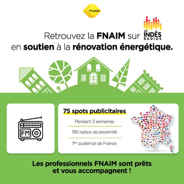 La FNAIM lance une campagne radio de sensibilisation à la rénovation énergétique des bâtiments à destination du grand public